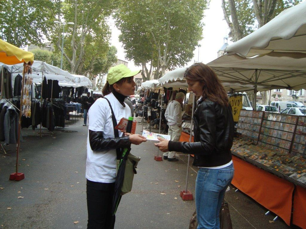distribution Marché de Tournon