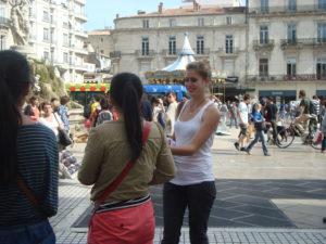 opération street marketing hôtesses Montpellier