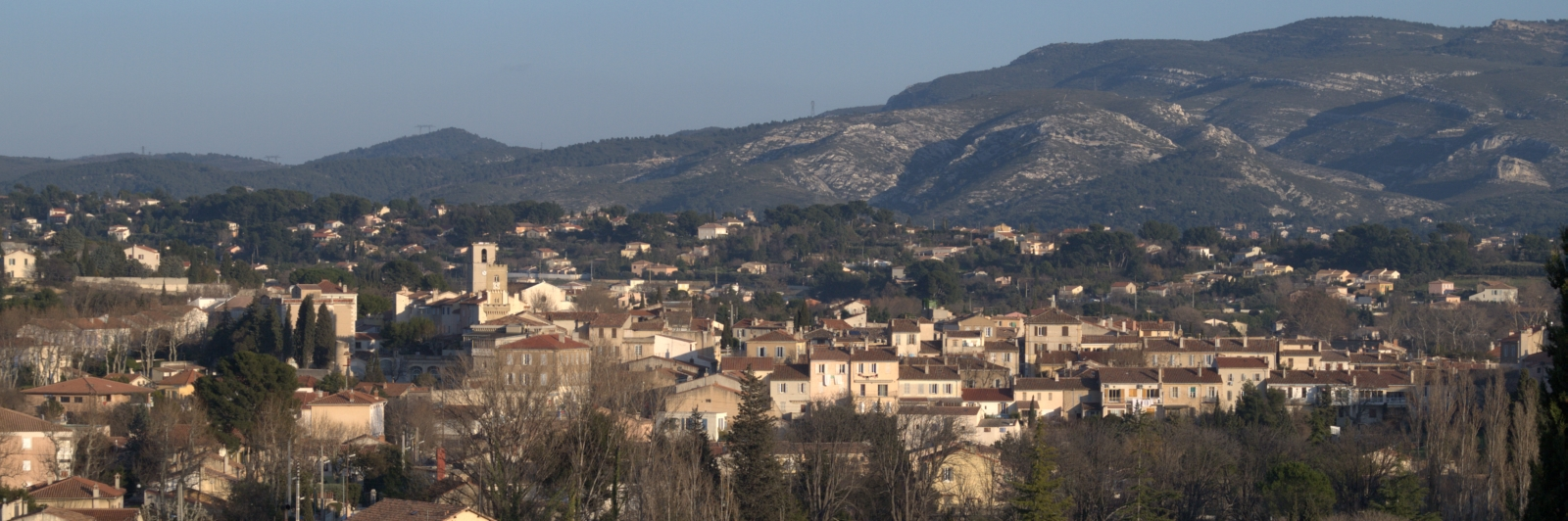Vue d'ensemble paysage Chateaugombert Marseille 13ème