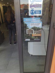 affiche posé sur vitrne d'un commerçant de la Ciotat